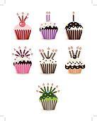 cupcake Set candle