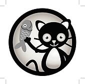 Cat happy Circle Banner