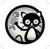 Cat Sad Circle Banner