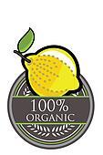 Lemon Organic label