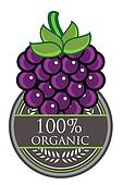 Grape Organic label