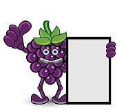 Grape Banner Thumb Up Pose