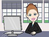 Businesswoman at a desk