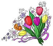 Flower, tulips, bouquet