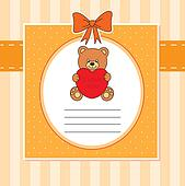 Child card. bear