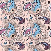 Paisley ornament  seamless background