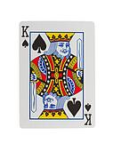 Old playing card (king)