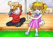 Children With Puppies