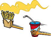 Fast food symbols