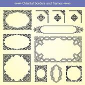 Oriental Asian Borders And Frames