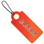 Bonus tag with price list
