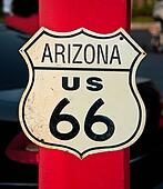 The Route 66 sign, Arizona, USA