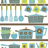 Retro Kitchen Background