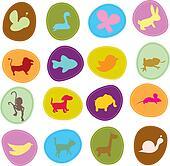 cute animals icons