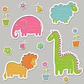 Text frames in the shape of animals