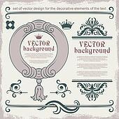 Vector decorative items
