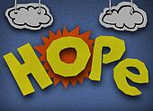 Hope Cardboard Diorama Word Sun Paper Cutout