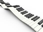 3d wavy keyboard
