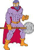 executioner superhero with axe