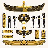 Egyptian symbols and decorations