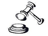 judge gavel,sketch shape,vector from