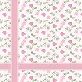 Valentine pattern with hearts and r