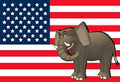 Happy Republican Elephant