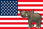 Angry Republican Elephant