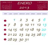 Calendar for january 2013