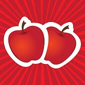 stickers apple red