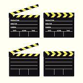 movie clipper yellow vector