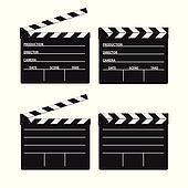 movie clipper white vector