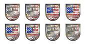 Made United States Chrome Shields