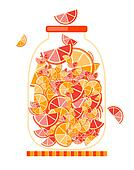 Jar with fruit jam for your design