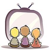 Children watching tv