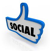Social Blue Thumb's Up Symbol Network Communication