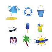 beach stuff vector illustration