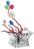 Pearl flower pot