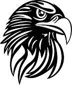 Eagle Head Line Art Vector