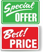 Special Offer Best Price store signs