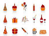 simple color birthday icon