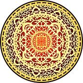 oriental red & gold rug