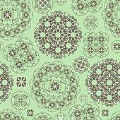 vector seamless floral pattern in green  and brown