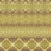 vector seamless golden patterns, oriental style