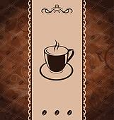 Vintage background for coffee menu, coffee bean texture