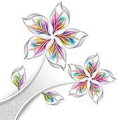 Grey metalic flower