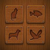 Creative Elements - Animal. Icons set. Eps10