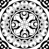 Geometric mandala drawing sacred circle
