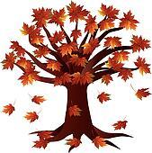 Fall Season Autumn Tree Illustration