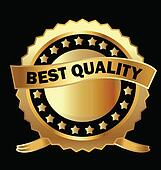 Gold labels best quality vector